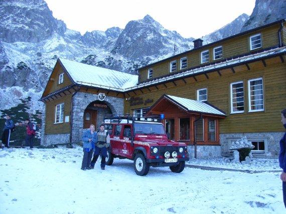 Chata pri Zelenom plese v zime